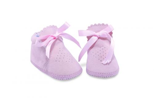 Bota de Bebé de Vestir Gamuza Rosa