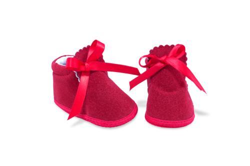 Bota de Bebé de Vestir Gamuza Roja