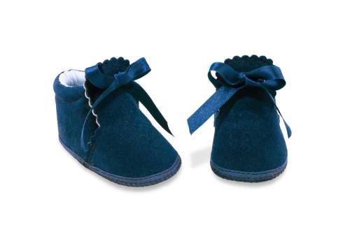 Bota de Bebé de Vestir Gamuza Azul