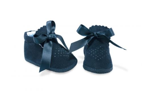 Bota de Bebé de Vestir Gamuza Negro