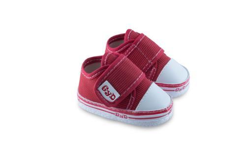 Zapatilla de Bebé de Corderoy Roja