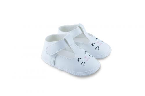 Badana de Bebé Nena Blanca con Diseño Bordado