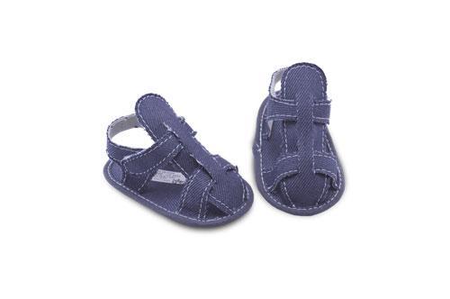Sandalia de Bebé de Jeans Color Azul
