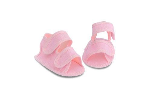Sandalia de Bebé Nena de Lona Rosa