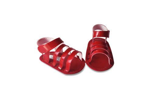 Sandalia de de Charol Color Rojo