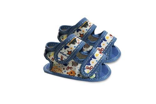 Sandalia de Bebé de Lona Motivo Bichitos de Mar