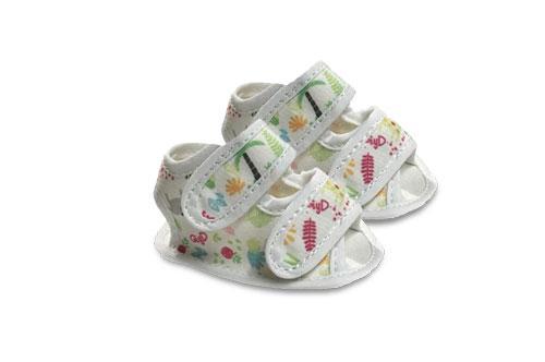 Sandalia de Bebé de Lona Motivo Palmeras
