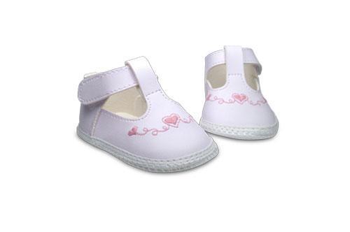 Badana de Bebé Nena Blanca con Diseño de Corazones en Rosa