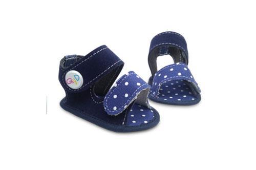 Sandalia de bebé Jeans con detalle a Lunares