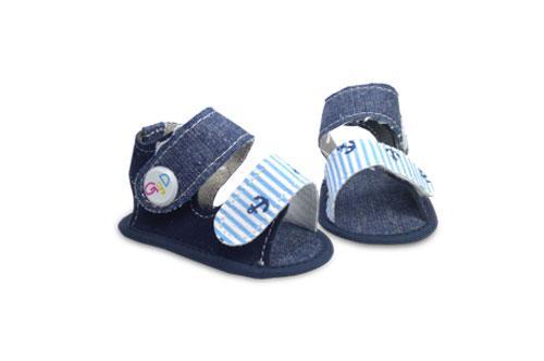 Sandalia de bebé Jeans con detalle de Ancla