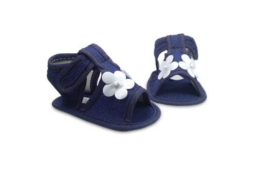 Sandalia de bebé en Jeans con detalle de Corazón