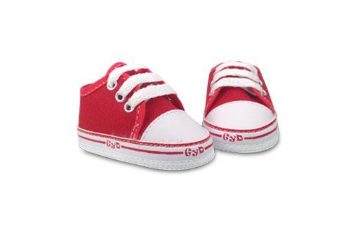 Zapatilla de Bebé Lona Color Rojo